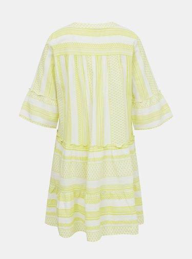 Žlté vzorované voľné šaty VERO MODA Ditche