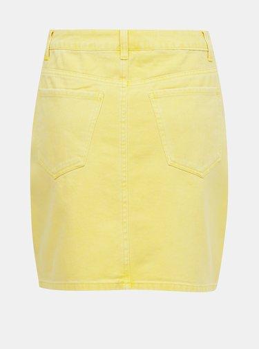 Žltá rifľová sukňa VERO MODA Kate