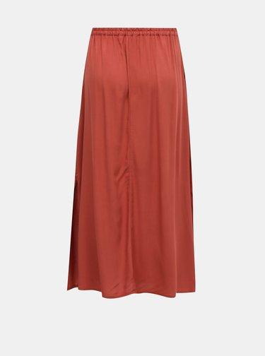 Cihlová maxi sukně VERO MODA Simply