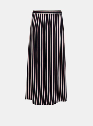 Tmavomodrá pruhovaná maxi sukňa VERO MODA Simply