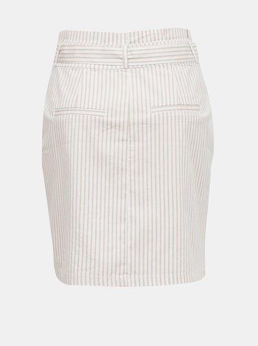 Světle růžová pruhovaná pouzdrová sukně VERO MODA Eva