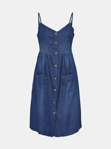 Tmavě modré džínové šaty Jacqueline de Yong Saint