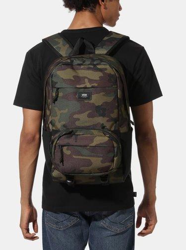 Tmavě zelený maskáčový batoh s ledvinkou 2v1 VANS 26 l