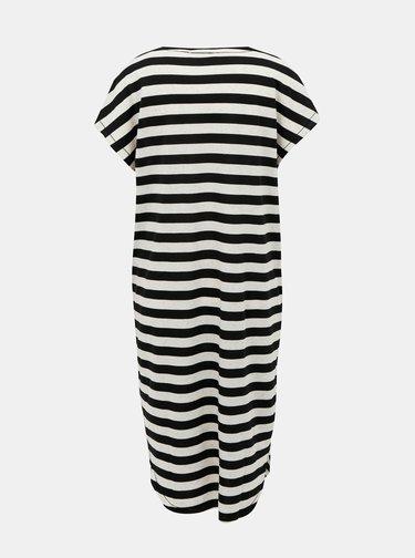 Krémovo-černé pruhované volné midišaty Selected Femme Ivy