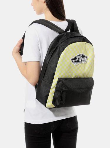 Černo-žlutý vzorovaný batoh VANS 22 l