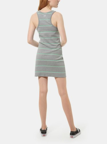 Šedé dámske pruhované šaty VANS