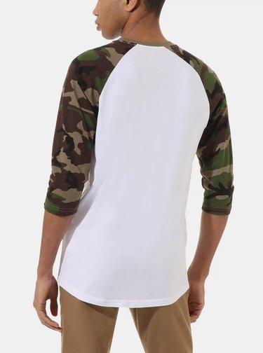 Zeleno-bílé pánské tričko VANS
