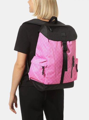 Ružový kockovaný batoh VANS