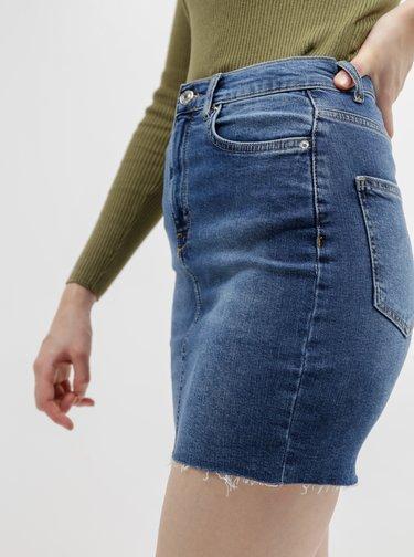 Modrá pouzdrová džínová sukně Alcott