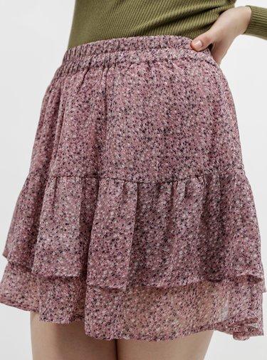 Fialová vzorovaná sukně Jacqueline de Yong