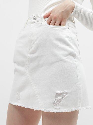 Biela rifľová sukňa Jacqueline de Yong Rosa