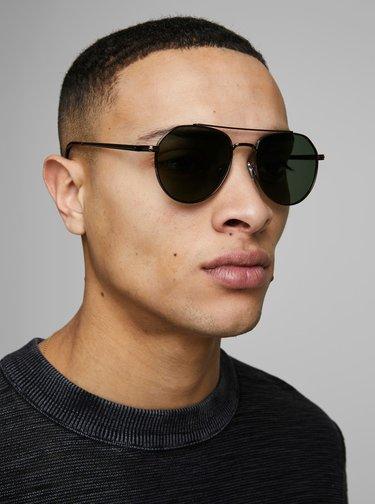 Hnedé slnečné okuliare Jack & Jones