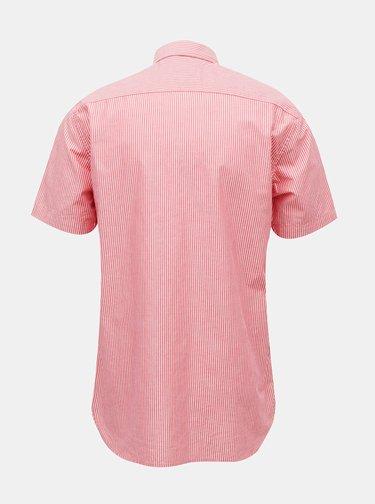 Červená pánska pruhovaná košeľa Tommy Hilfiger
