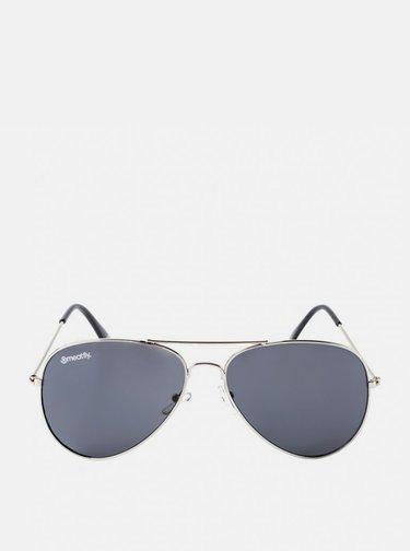 Pánske slnečné okuliare v striebornej farbe Meatfly