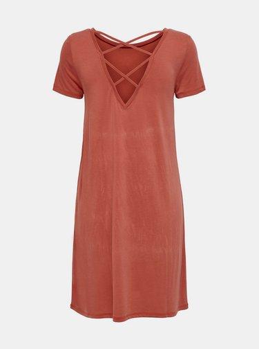Cihlové basic šaty ONLY Free