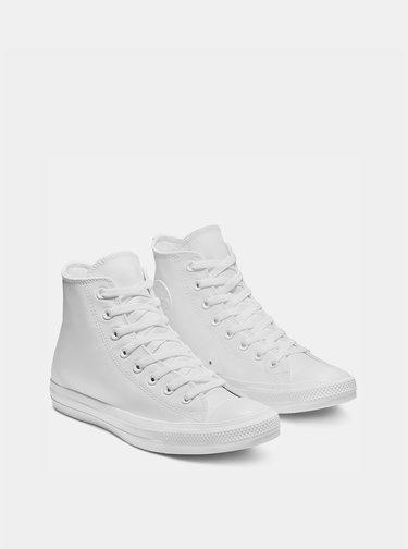 Biele kožené členkové tenisky Converse Chuck Taylor All Star U