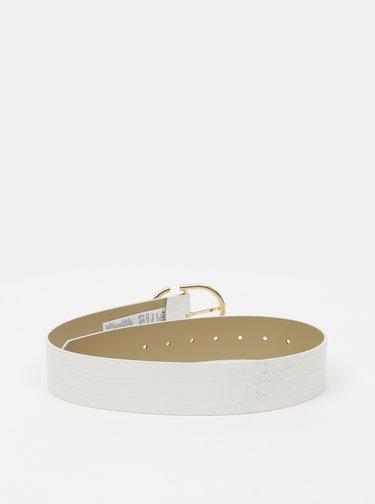 Bílý pásek s krokodýlím vzorem Pieces Anie