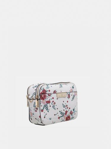 Bílá květovaná kabelka Bessie London