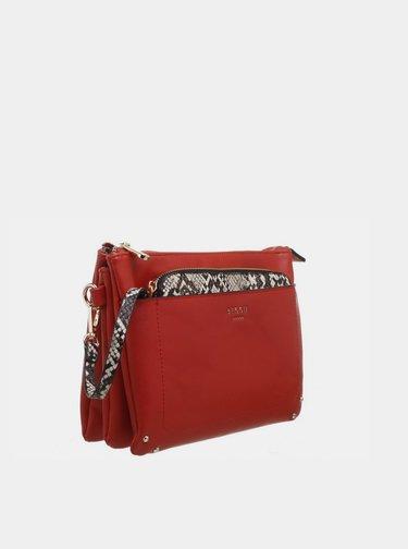 Červená listová kabelka Bessie London