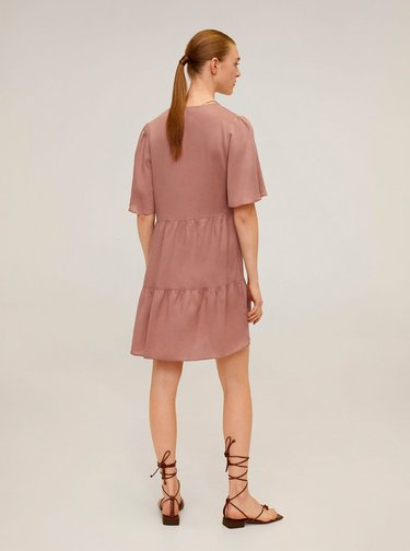 Starorůžové šaty Mango Rita