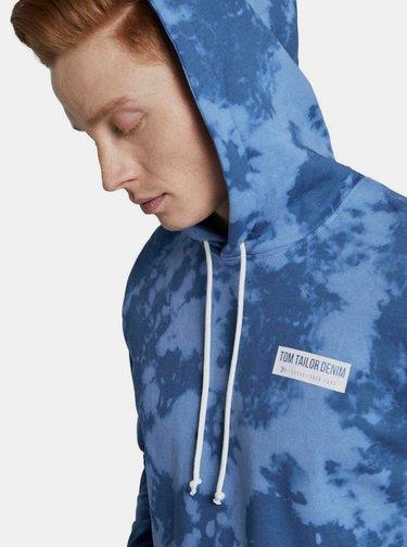 Modrá pánská vzorovaná mikina Tom Tailor Denim