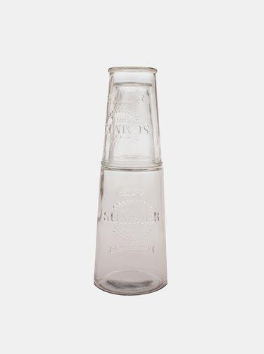 Sklenená karafa s pohárom Dakls