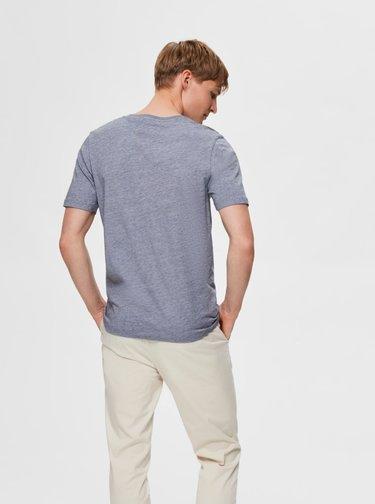 Světle modré basic tričko Selected Homme