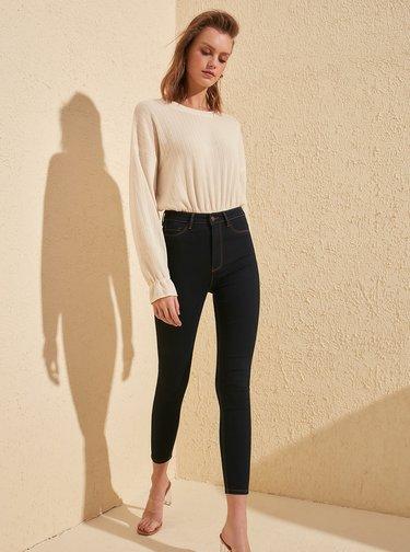 Tmavě modré skinny fit džíny Trendyol