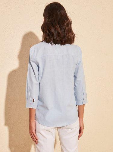 Svetlomodrá košeľa Trendyol