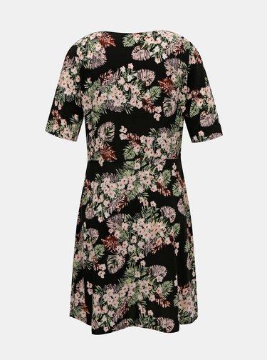 Čierne kvetované šaty VERO MODA Simply