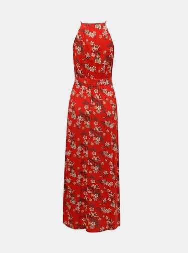 Červené kvetované maxišaty VERO MODA Simply