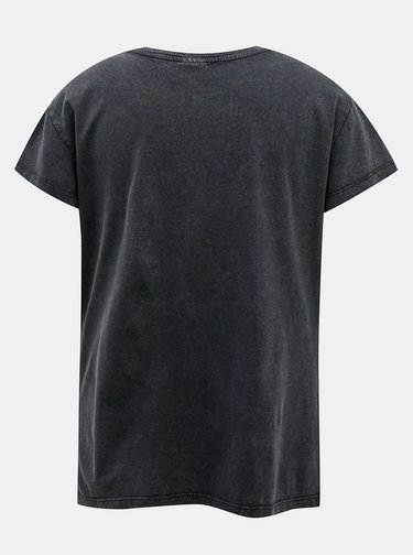 Tmavě šedé tričko s potiskem Jacqueline de Yong Rock