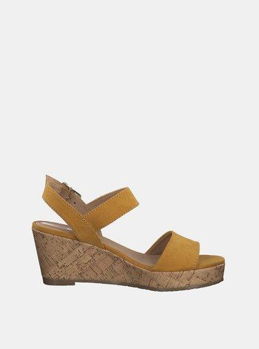 Žlté sandálky v semišovej úprave s.Oliver