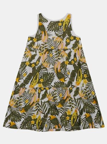 Belo-zelené dievčenské vzorované šaty name it