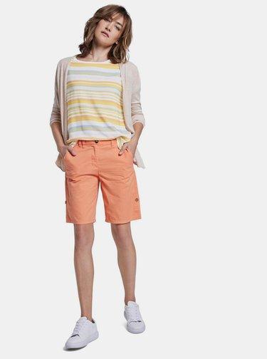 Žluto-bílé dámské pruhované tričko Tom Tailor