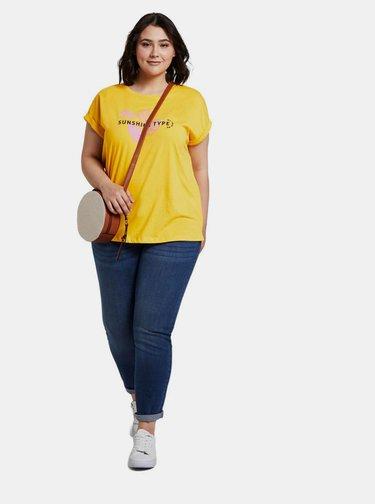 Žluté dámské tričko My True Me Tom Tailor