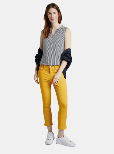 Žlté dámske nohavice Tom Tailor
