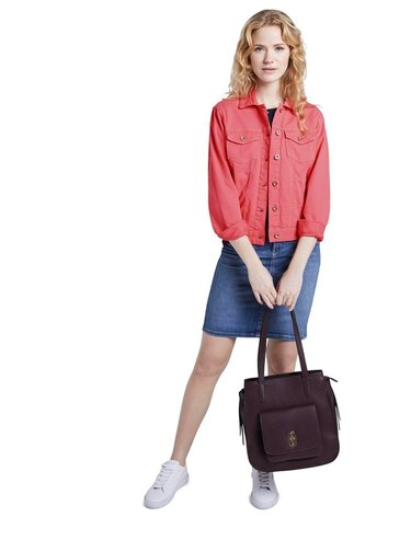 Růžová dámská džínová bunda Tom Tailor