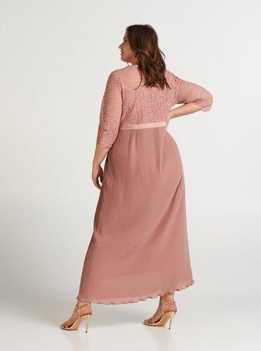 Rochii maxi pentru femei Zizzi - roz prafuit