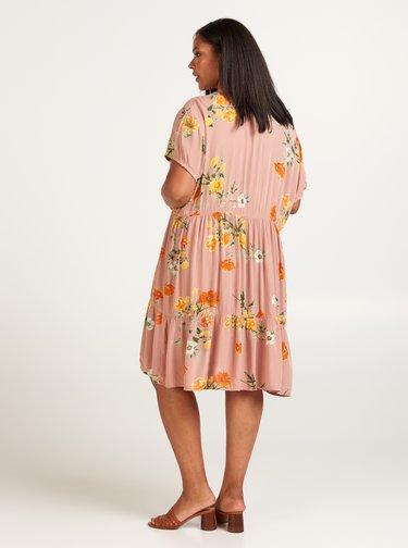 Ružové kvetované šaty Zizzi