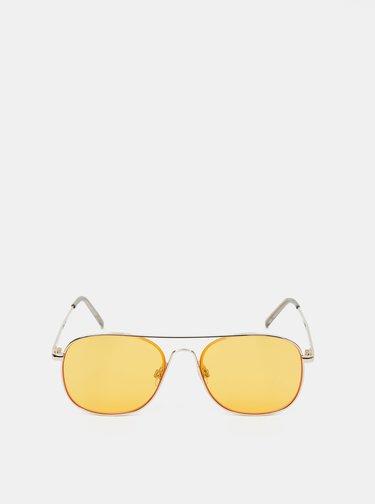 Sluneční brýle ve zlaté barvě Jack & Jones Team