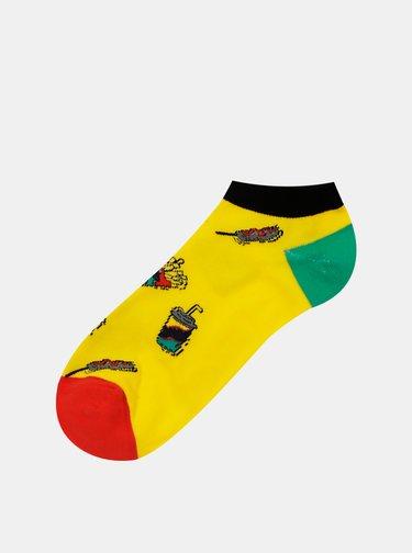 Sada štyroch párov ponožiek v žltej, červenej a modrej farbe Jack & Jones Fast Food