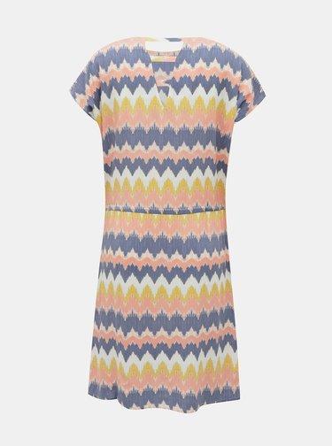 Žlto-modré vzorované šaty ONLY Nova