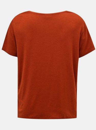 Hnědé basic tričko ONLY CARMAKOMA