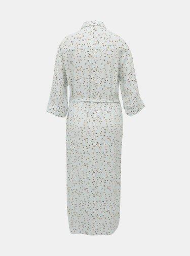 Svetlomodré kvetované košeľové šaty ONLY Nova