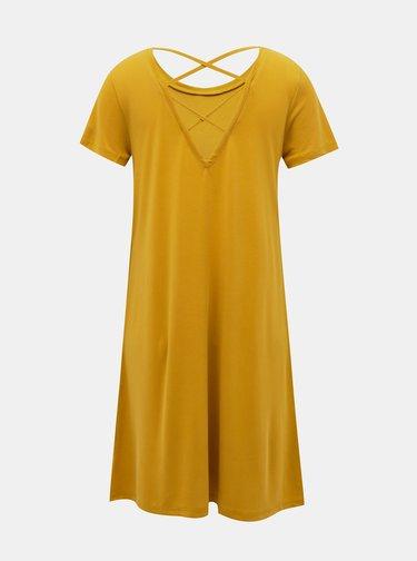 Hořčicové basic šaty ONLY Free