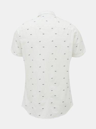 Biela vzorovaná košeľa Jack & Jones Lasse