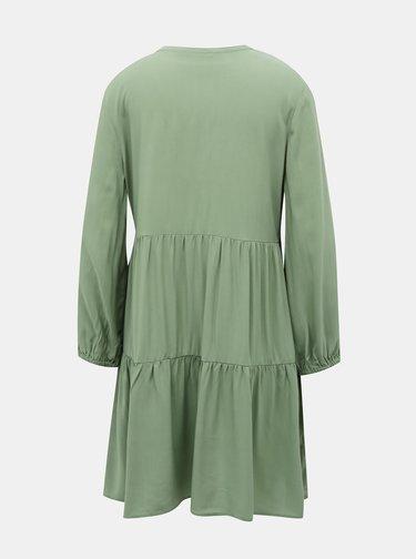 Zelené voľné šaty ONLY Nova