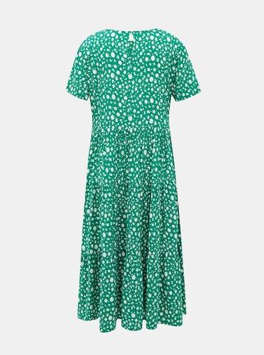 Zelené květované midišaty ONLY Fabulous