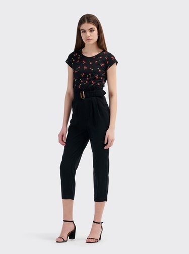 Čierne dámske tričko Alcott